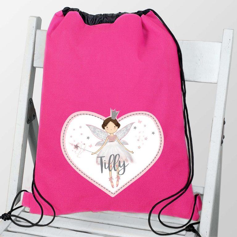Personalised Fairy Princess Swim & Kit Bag