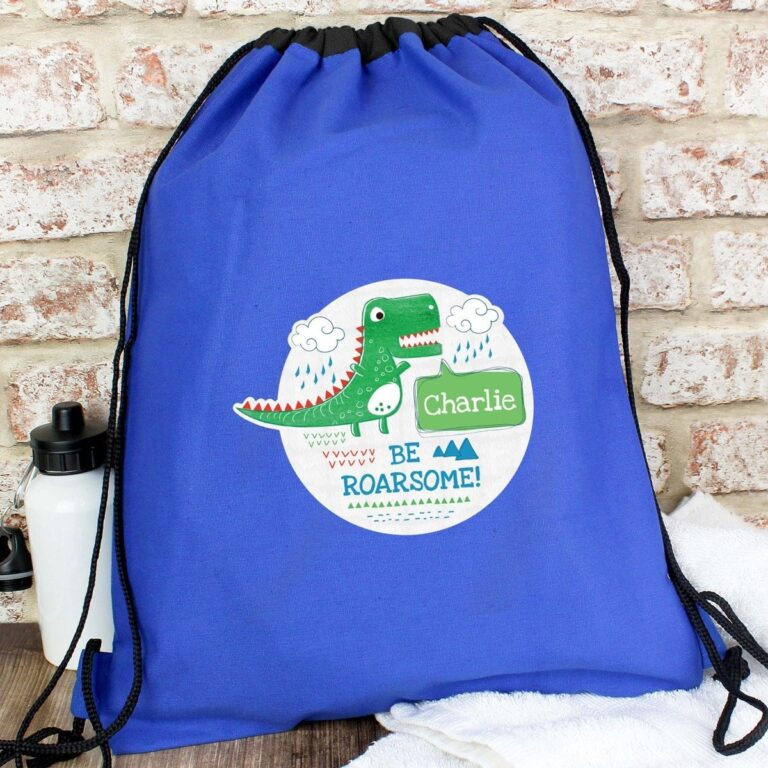 Personalised 'Be Roarsome' Dinosaur Swim & Kit Bag