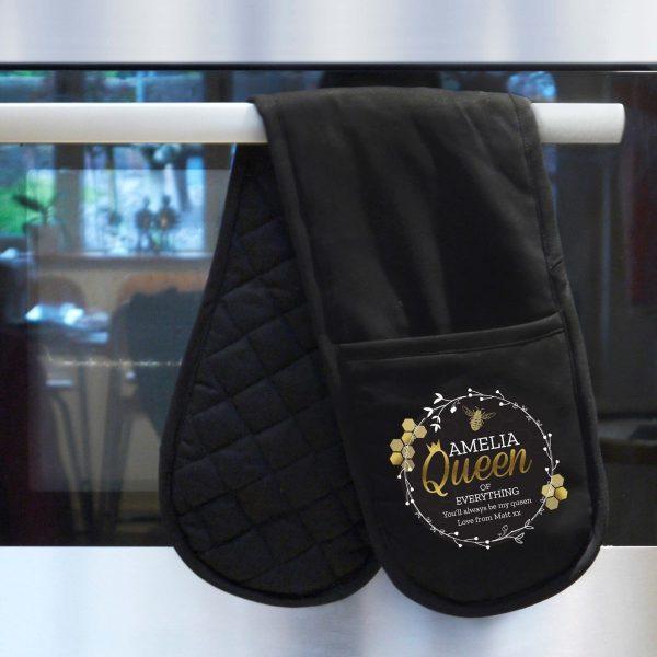 Personalised Queen Bee Oven Gloves