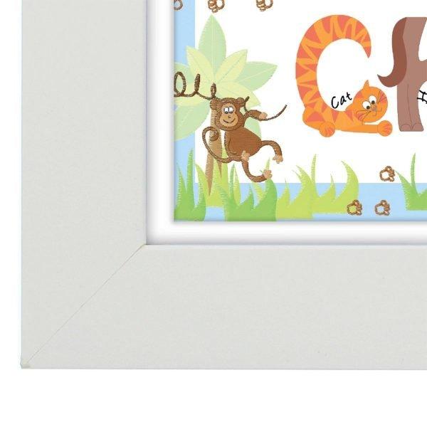 Personalised Blue Animal Alphabet Frame