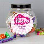 Personalised 'Retro Sweets' Sweet Gift Jar