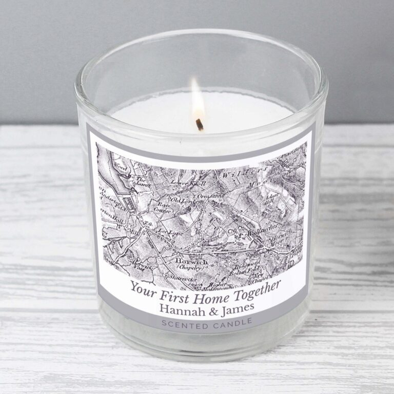 Personalised 1805 – 1874 Old Series Map Compass Scented Jar Candle