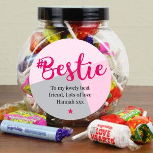 Personalised #Bestie Sweet Gift Jar