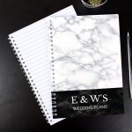 Personalised Marble Effect A5 Notebook