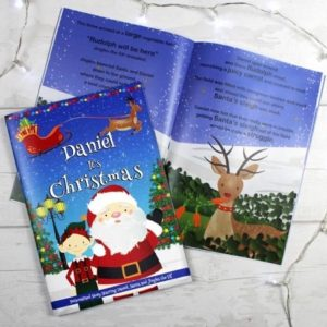 """Personalised Boys """"It's Christmas"""" Story Book, Featuring Santa and his Elf Jingles"""