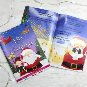 """Personalised Girls """"It's Christmas"""" Story Book, Featuring Santa and his Elf Twinkles"""