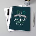Personalised Dad's Greatest Achievement A5 Notebook