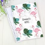 Personalised Flamingo A5 Notebook