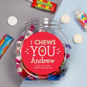 Personalised I Chews You Sweet Gift Jar