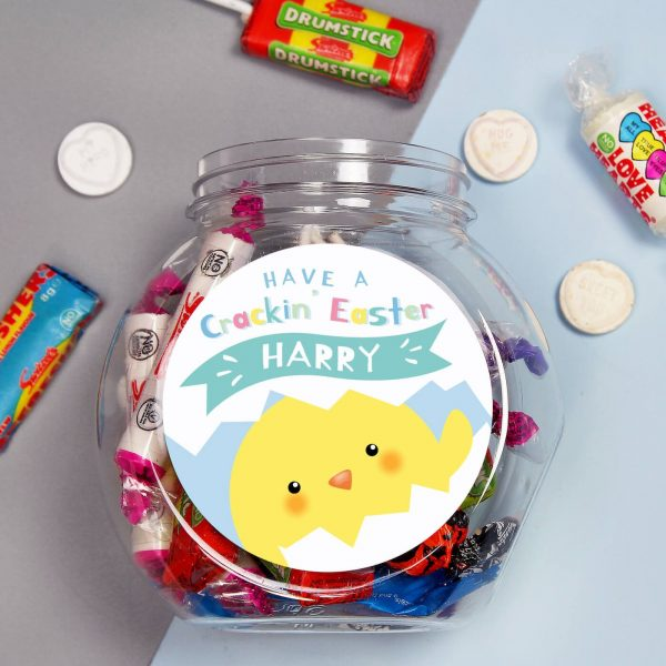 Personalised Have a Cracking Easter Sweet Gift Jar