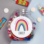 Personalised Rainbow Sweet Gift Jar