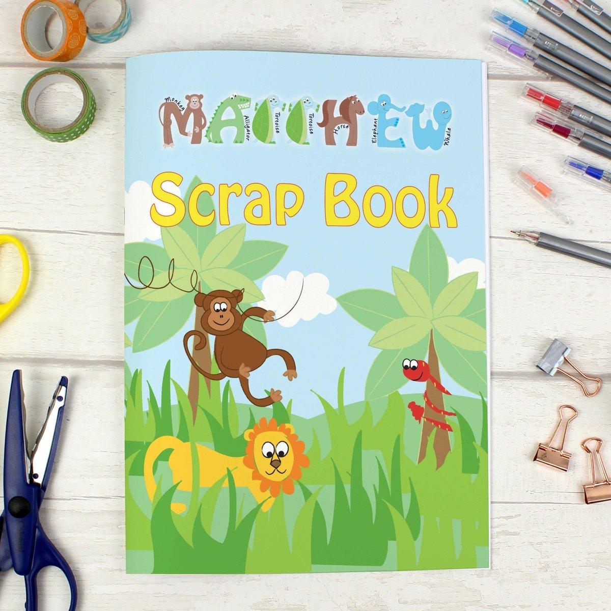 Personalised Blue Animal Alphabet – A4 Scrapbook