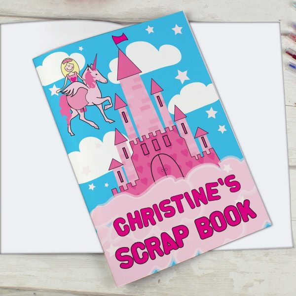 Personalised Princess & Unicorn – A4 Scrapbook