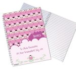 Personalised Miss Owl Teacher A5 Notebook