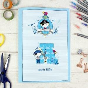 Personalised Pirate A4 Scrapbook