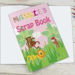 Personalised Pink Animal Alphabet Scrap Book