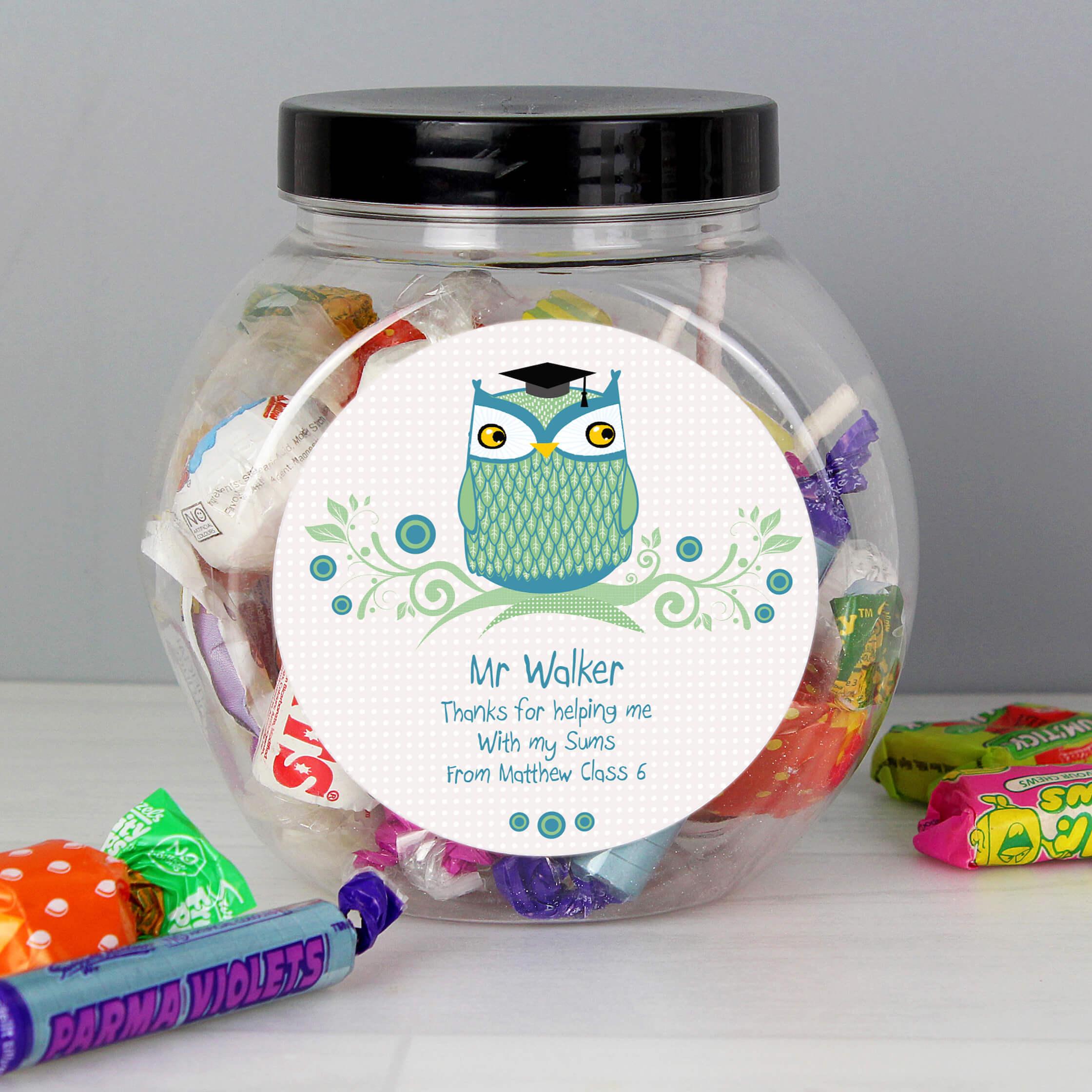 Personalised Mr Teacher Sweet Gift Jar
