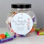 Personalised Fantastic Page Boy Sweet Gift Jar