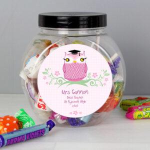 Personalised Mrs Teacher Sweet Gift Jar