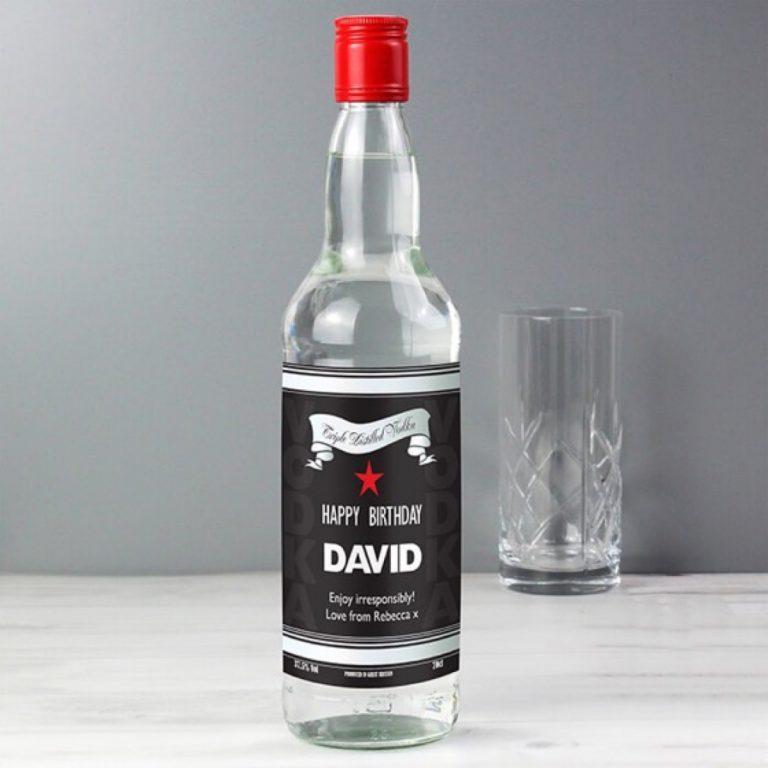 Personalised Classic Black & Silver Vodka