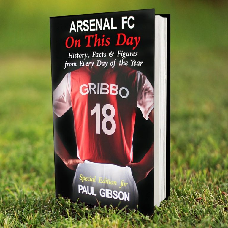 Personalised Arsenal FC On This Day Book