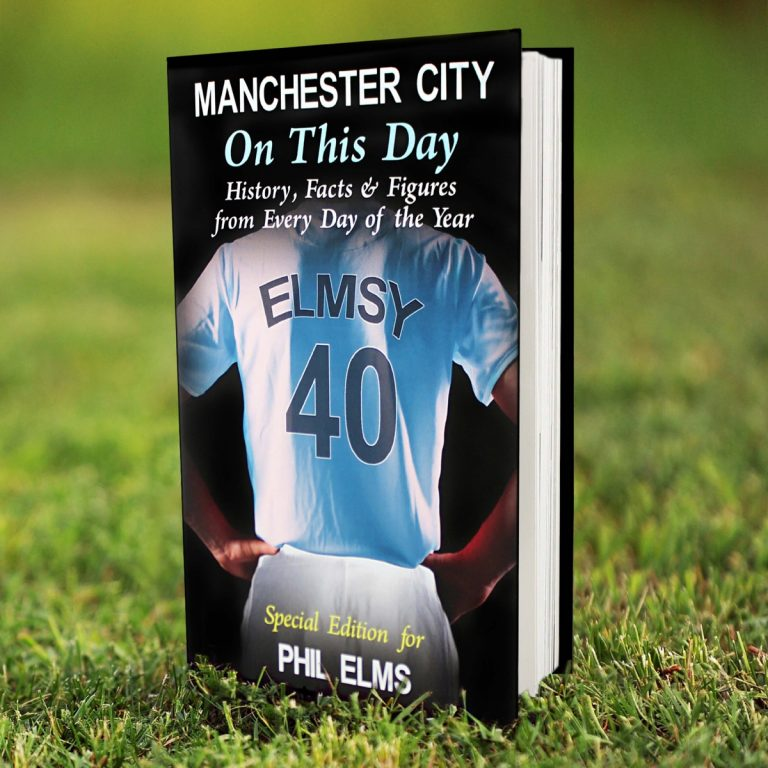 Personalised Manchester City FC on this Day Book