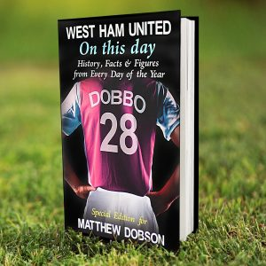 Personalised West Ham United FC on this Day Book