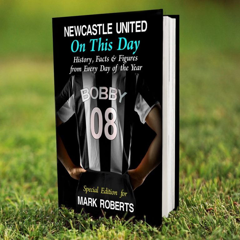 Personalised Newcastle United FC on this Day Book