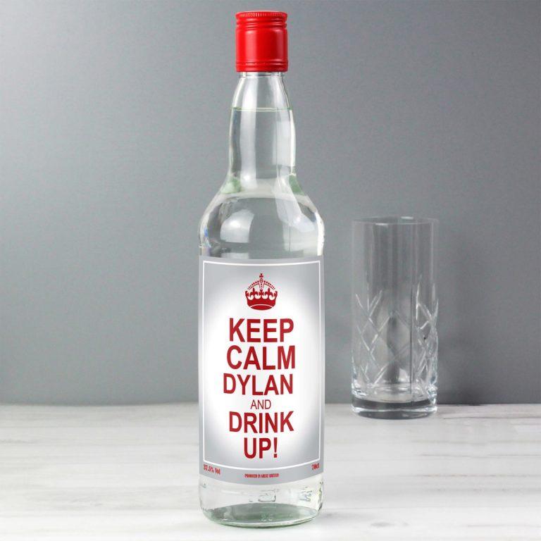 Personalised Keep Calm Vodka