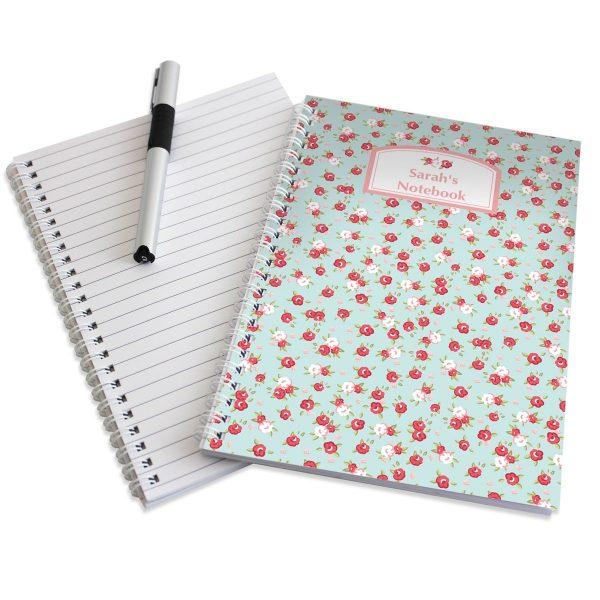 Personalised Vintage Floral A5 Notebook