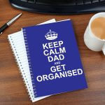 Personalised Keep Calm Blue A5 Notebook