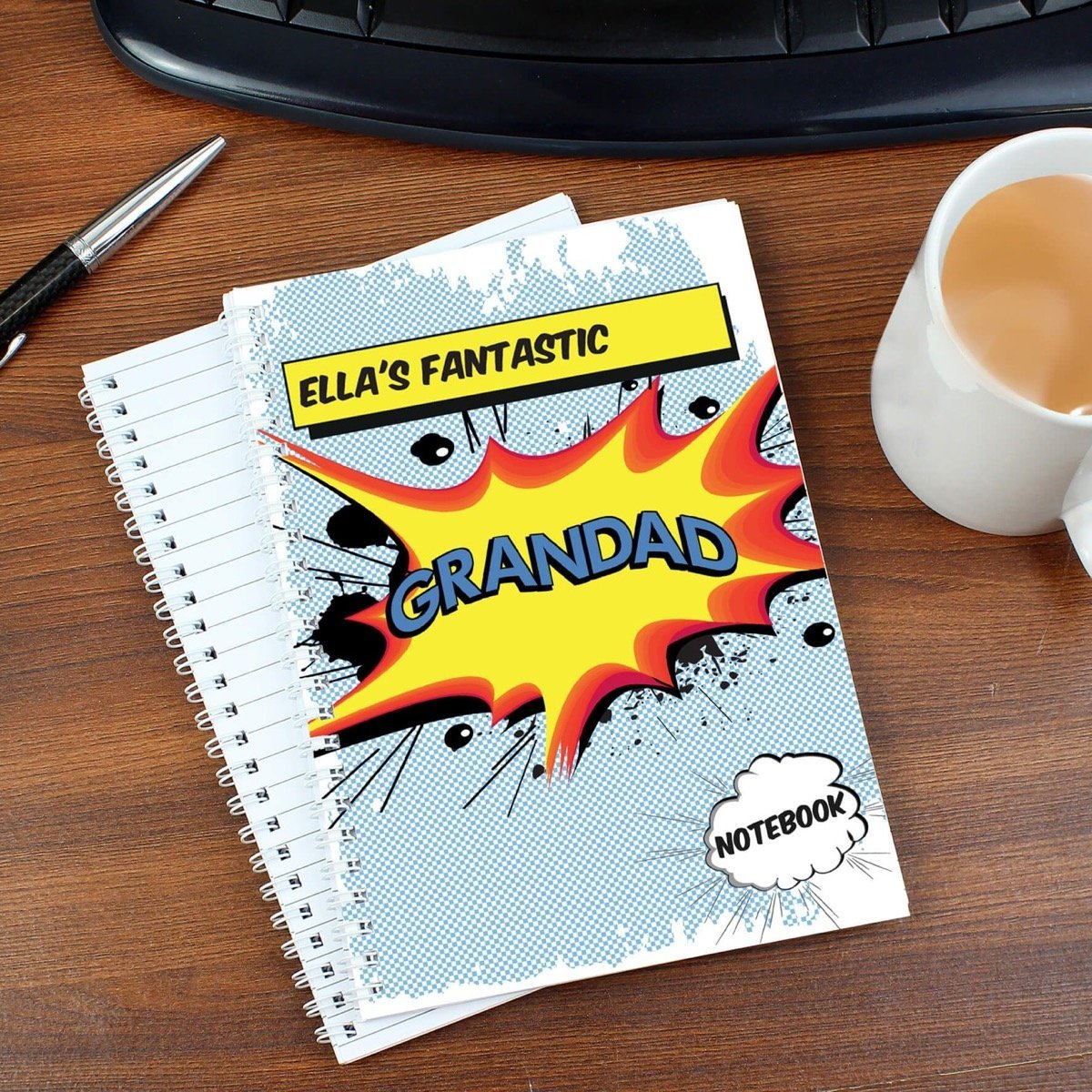 Personalised Comic Book Themed A5 Notebook
