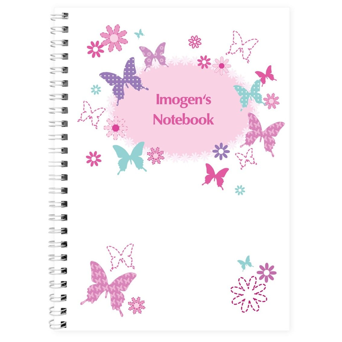 Personalised Butterfly A5 Notebook