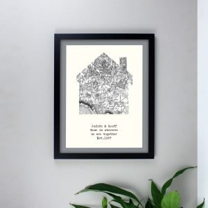 Personalised 1805 – 1874 Old Series Map Home Black Framed Print