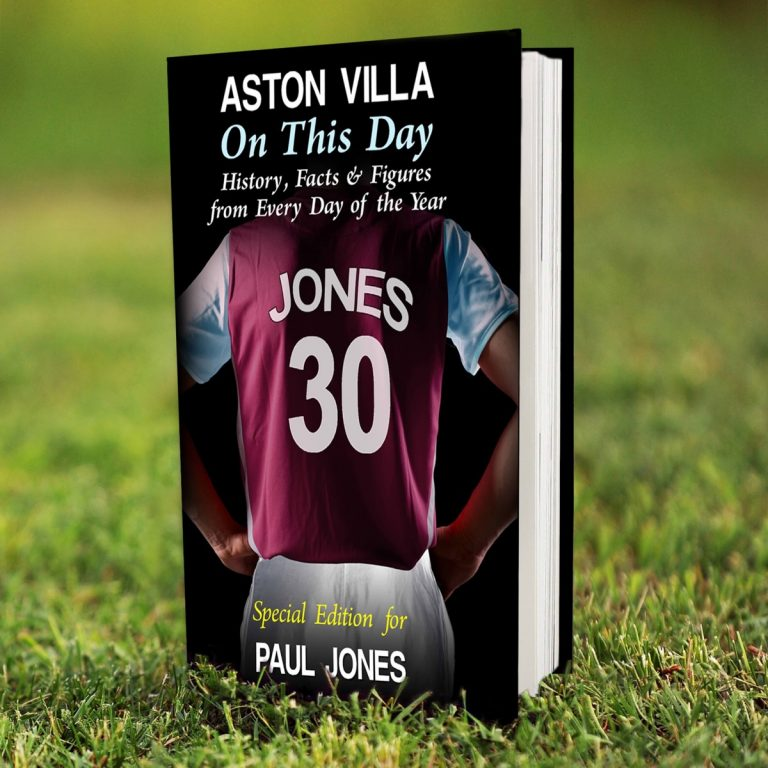 Personalised Aston Villa FC on this Day Book