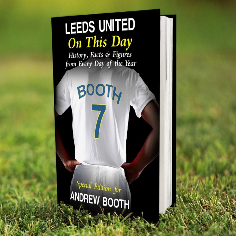 Personalised Leeds United FC on this Day Book