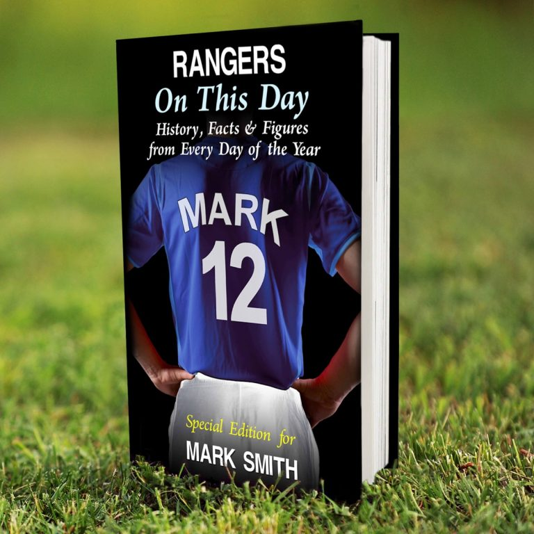 Personalised Rangers on this Day Book