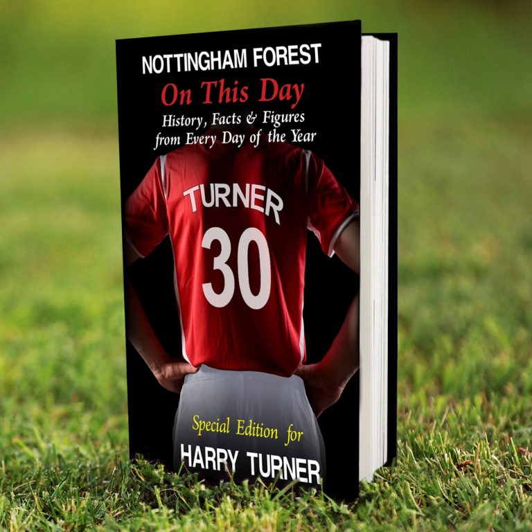 Personalised Nottingham Forest FC on this Day Book