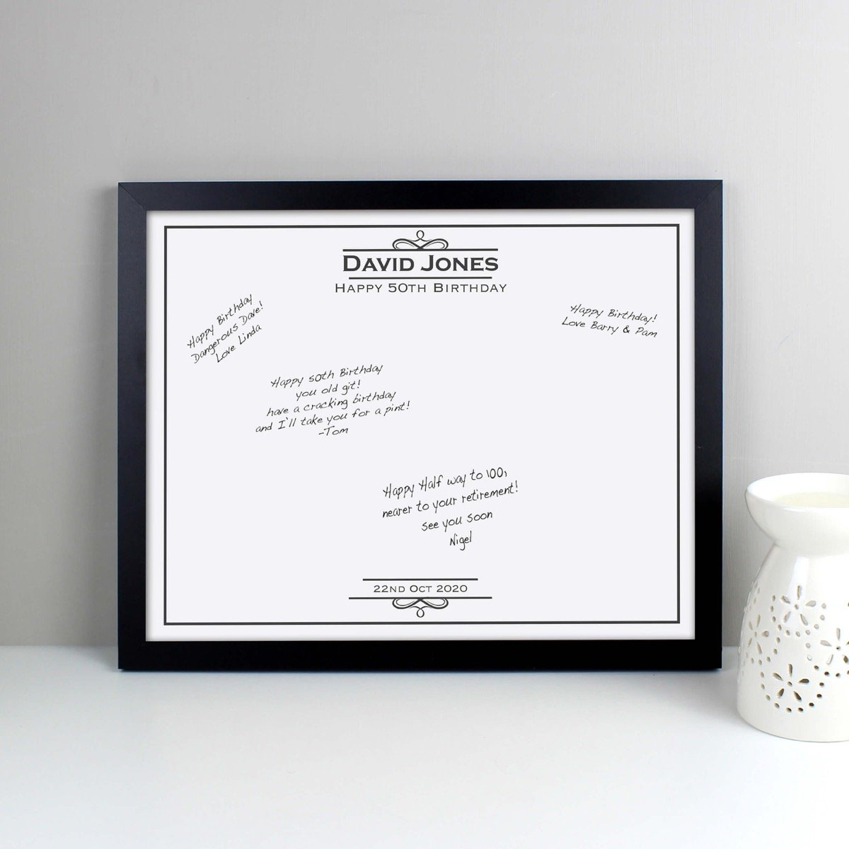 Personalised Occasion Black Signing Framed Print