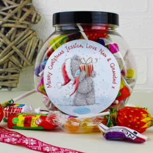 Personalised Me to You Christmas Sweet Gift Jar