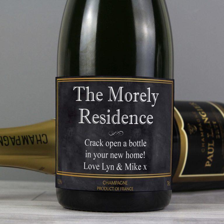 Personalised Chalkboard Champagne