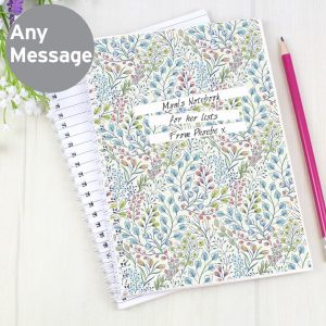 Personalised Botanical A5 Notebook