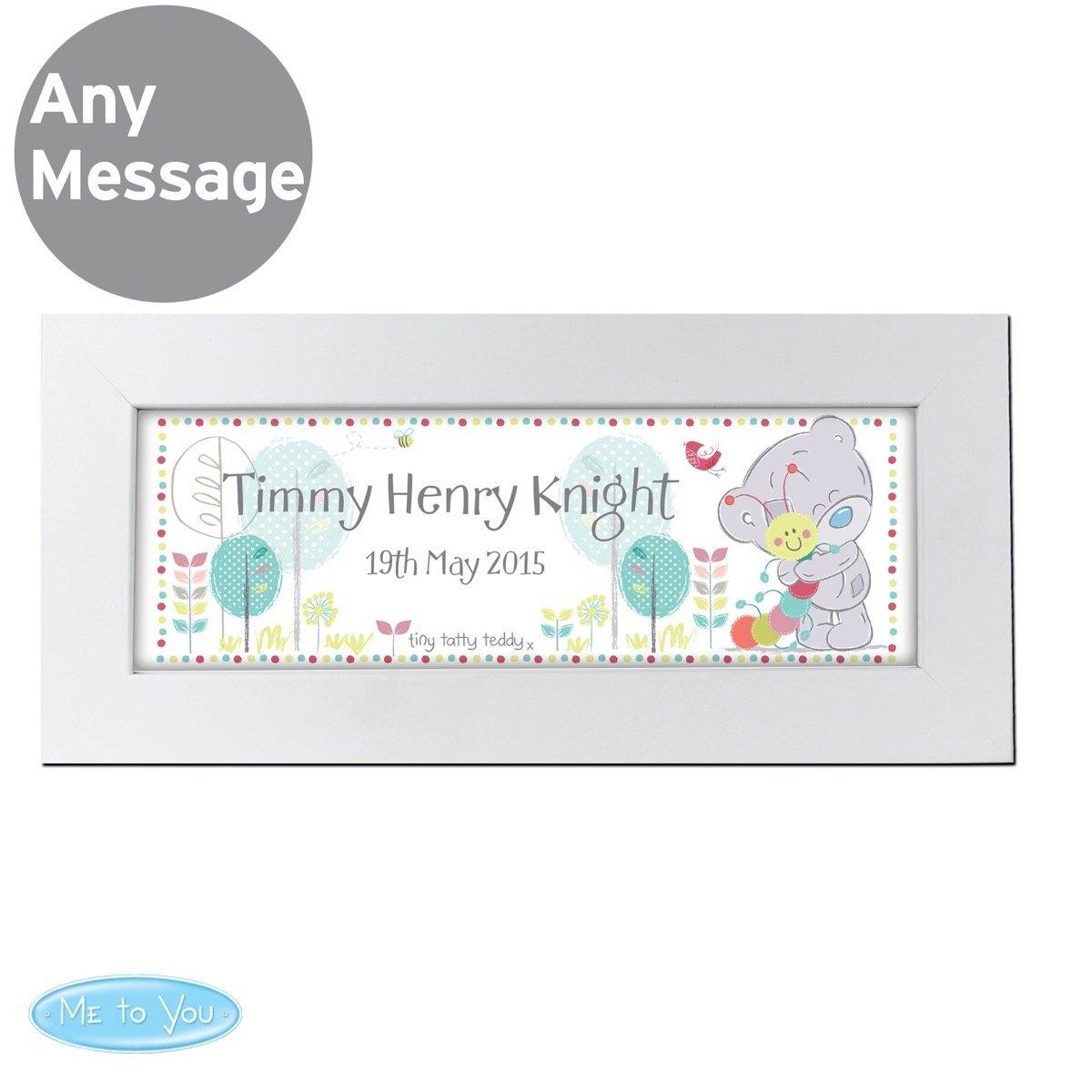 Personalised Tiny Tatty Teddy Cuddle Bug Name Frame