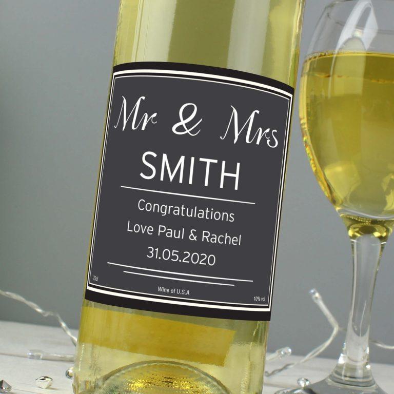 Personalised Classic White Wine