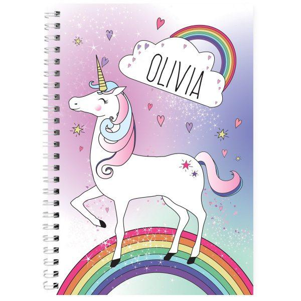 Personalised Unicorn A5 Notebook