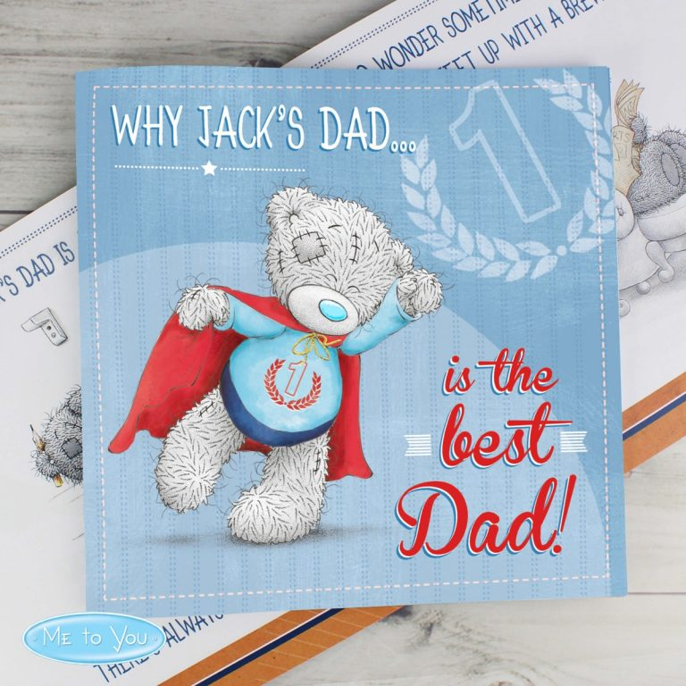 Personalised Me to You For Him Super Hero Poem Book