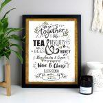 Personalised We Go Together Like… Black Framed Print