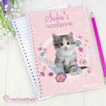 Personalised Rachael Hale Cute Kitten A5 Notebook