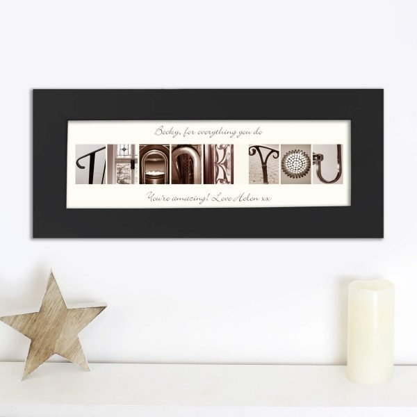 Personalised Affection Art Any Message Name Frame