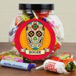 Personalised Sugar Skull Sweet Gift Jar